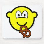 Pretzel eating buddy icon   mousepad