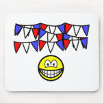 Bunting smile   mousepad
