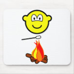 Campfire marshmallow buddy icon   mousepad