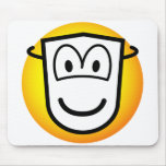 Masked emoticon Theatre  mousepad
