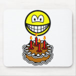 Blowing out candles smile   mousepad
