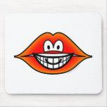 Lips smile   mousepad