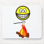 Campfire marshmallow smile   mousepad