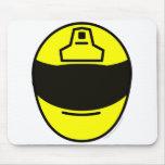 Motor cycle helmet buddy icon   mousepad