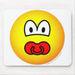 Dummy emoticon Baby pacifier  mousepad