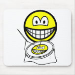 Embroidery smile   mousepad