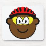 Biker buddy icon muddy  mousepad