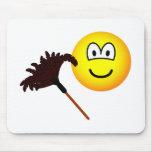Dusting emoticon   mousepad