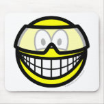 Safety goggles smile   mousepad