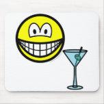 Martini drinking smile   mousepad