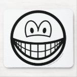 Black and white smile   mousepad