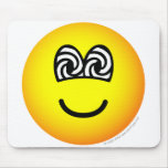 Hypnotized emoticon   mousepad
