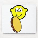 Tambourine playing buddy icon   mousepad