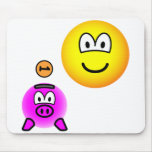 Saving emoticon   mousepad