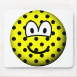 Polka dotted emoticon   mousepad