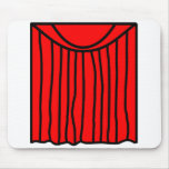 Theater buddy icon stage curtains closed  mousepad