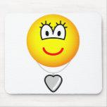 Heart shaped locket emoticon   mousepad
