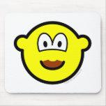 Chocolate mustache buddy icon   mousepad