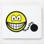 Chained smile   mousepad