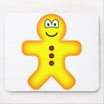 Gingerbread emoticon   mousepad