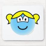 Bubbles emoticon   mousepad