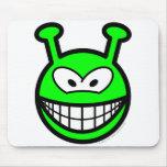 Green alien smile   mousepad