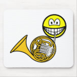 French horn smile   mousepad