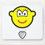 Heart shaped locket buddy icon   mousepad