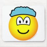 Shower cap emoticon   mousepad