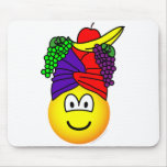 Fruit hat emoticon   mousepad