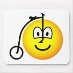 Velocipede emoticon   mousepad