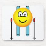 Skiing emoticon   mousepad