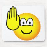 Halt emoticon   mousepad