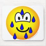 Stressed emoticon   mousepad