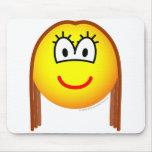 Brunette emoticon   mousepad