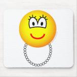 Pearl necklace emoticon   mousepad
