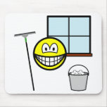 Window cleaner smile   mousepad