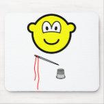 Thimble and needle buddy icon   mousepad
