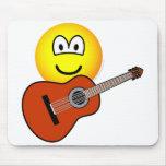 Acoustic guitar emoticon   mousepad