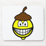 Acorn smile   mousepad