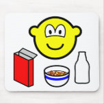 Breakfast buddy icon cereal  mousepad