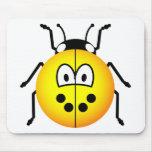 Ladybird emoticon yellow  mousepad