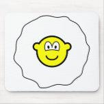Egg buddy icon Fried egg  mousepad