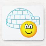 Igloo emoticon Building  mousepad