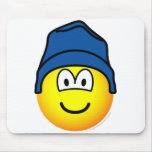 Beanie emoticon   mousepad