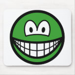 Colored smile green  mousepad