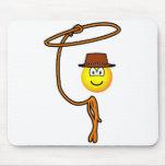 Cowboy lasso emoticon   mousepad