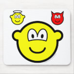 Angel and devil on shoulder buddy icon   mousepad