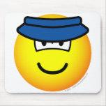 Sun visor emoticon   mousepad