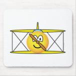 Biplane emoticon   mousepad